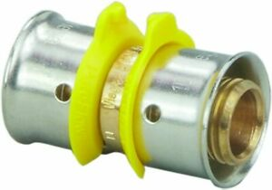 Viega 93090 Pureflow Zero Lead Bronze Pex Press Coupling W 2 Press