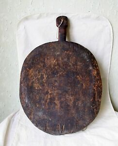 Antique 19 C Primitive Wooden Cutting Dough Bread Board Plate Ottoman Era 4