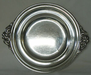 Randahl Shop Sterling Silver Stepped Tray Floral Arts Crafts Applied Handles