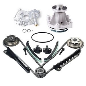 Timing Chain Kit Cam Phaser Water Oil Pump Fit 04 08 Ford F 150 5 4 Triton Sohc