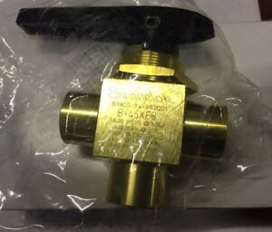 Swagelok B 45xf8 Brass 3 way Ball Valve New