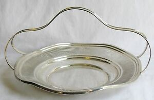 J E Caldwell Antique Sterling Silver Basket W Handle George Henckel Ny