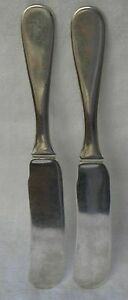 Arthur Stone Associates Sterling Flat Handle Butter Knife Set Of 2 Lehtonen