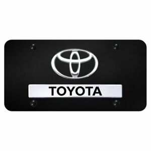 Toyota Chrome Black Front License Plate Trd Novelty Logo Stainless Steel