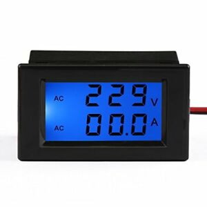 Drok Ac 100 300v 100a Digital Voltage Current Multimeter Lcd Volt Amp Meter G