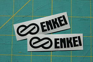 2x Enkei Wheel Stickers Replacement Decal Rim Rpf1 Pf01 Gtc01 Set Of 2