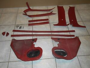 Chevy Gmc Headliner Trim Set Oem Maroon red Color Complete Interior Set 73 87