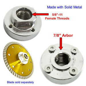 Metal Flush Mount Cut Adapter For Blade With 7 8 4 Hole Arbor