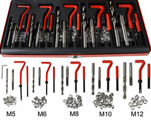 131pcs Helicoil Restoring Thread Repair Tools Wire Insert Kit M5 M6 M8 M10 M12