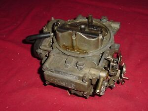 Holley Carburetor 80457 1 600 Cfm Vacuum Secondary Electric Choke Very Clean