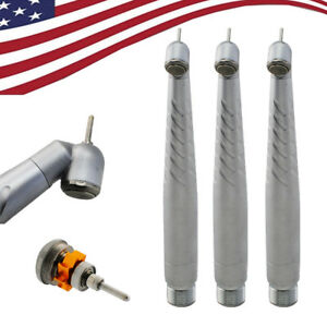 3pcs Dental Dentist 45 Ceramic Turbine High Speed Handpiece Push Button 2hole