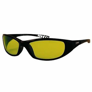 Jackson Safety 20541 V40 Hellraiser Safety Glasses Black Frame Amber Lens