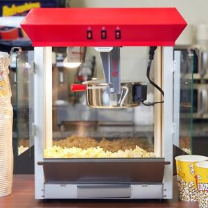 Popcorn Machine Popper Commercial Movie Theater Popcorn Popping 8 Oz 120v 850w