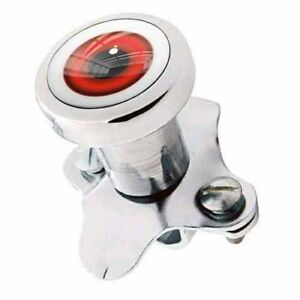 Polished Steering Wheel Spinner Suicide Brody Knob Rod Car Truck Red Eyeball