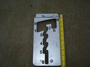 Vintage Rat Rod hot Rod Custom 6 Speed Console Aluminum Plate Center Cover