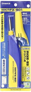 White Light Hakko Battery powered Soldering Iron Fx901 01 Japan Free Shipping