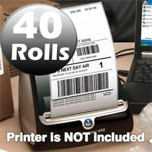 40 Rolls 4x6 Thermal Labels 220 roll Compatible Dymo 4xl Labelwriter 1744907