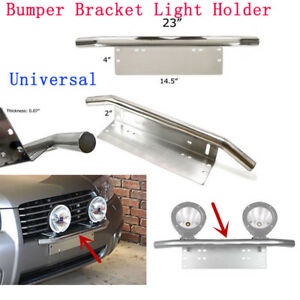 Universal Car Front Bumper License Plate Mounting Bracket Work Fog Light Holder