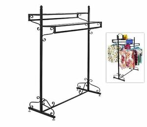 Unique Clothing Rack Fashion Clothes Stand For Womens Vintage Standing Hanger