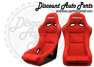 Bride Vios 3 Iii Red Cloth Seats Low Max Jdm Bucket Auto X Racing Drift Pair