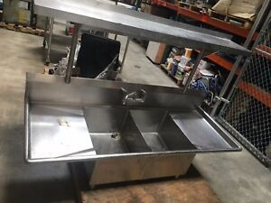 Used Commercial Sink 2 Compartment With Faucet