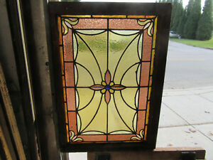 Antique American Stained Glass Window 24 X 33 2 Of 2 Architectural Salvage