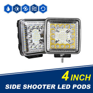 2pcs 4 Inch 1456w Cree Led Work Light Bar Spot Flood Offroad 4wd Atv Truck Boat