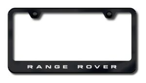 Range Rover Laser Etched Black Stainless Steel License Plate Frame Auglfraneb