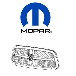 For Dodge Ram 1500 Chrome Grille W Rams Head Emblem Mopar 68093930ac