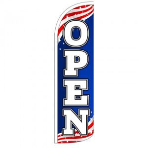 30 Wider Super Swooper Open Windless Feather Flag Only Sign Blade Banner