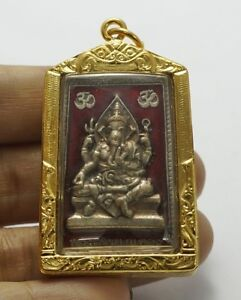 Phra Pikanet Pi Ganesh Amulet Necklace Pendant For Love Lucky Wealth A63