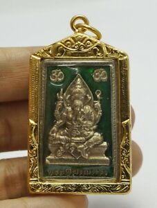 Phra Pikanet Pi Ganesh Amulet Necklace Pendant For Love Lucky Wealth A64