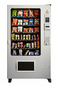 Candy Chip Snack Vending Machine Gray gray Ams 45 Select W coin Bill Mech
