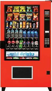 2 Ams Glass Front Combo Bottle snack Vending Machines Brand New The Outsider