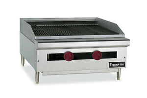 Therma tek 24 Counter Gas Char Broiler Grill Tc24 24crb lava Rock Usa Made