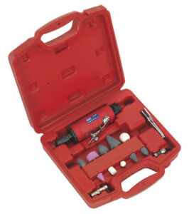 Die Grinder Kit 13pc This Air Tool Is Supplied With Grinding Points From Sealey