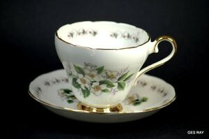 Adderley Simplicity N 1236 Fine Bone China Tea Cup And Saucer Made In England