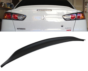 08 15 Mitsubishi Lancer Evo X 10 Evolution Abs Duck Tail Trunk Spoiler Lip Wing