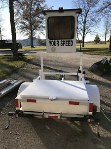 2007 Mph Radar Trailer Speed Trailer Construction Zone Traffic Control