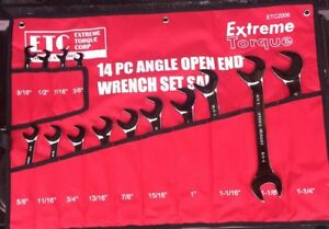 14pc Sae Extreme Torque Open Angle End Wrench Set Snap On Mac Matco Gearwrench