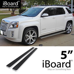 Running Board Side Step Nerf Bars 5in Silver Fit Chevy gmc Equinox terrain 10 17