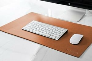 Leather Desk Pad Padded Blotter Protective Mat Mouse Keyboard Smooth Cushion New