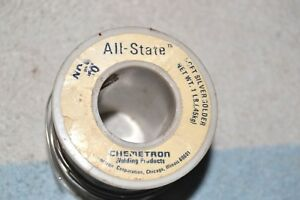 All state Chemetron 430 Soft Silver Solder Full 1 Pound Spool