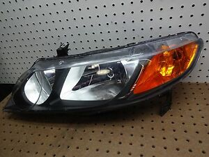06 07 08 09 10 Honda Civic Sedan Left Driver Headlight Oem 2006 2010 Tyc