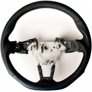 Cipher Auto Leather Steering Wheel W Silver Stitching For Mazda Miata Nd