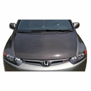 4dr Oer Look Hood 1 Piece Fits Honda Civic 06 11 Carbon Creations