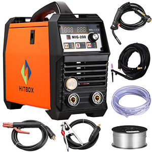 Mig Welder 200amp Dc 220v Flux Core Wire Lift Tig Arc Gas Gasless Tig Torch