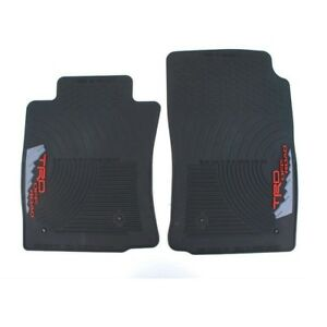 New For Toyota Tacoma 2005 2011 Black Front All Weather Floor Mats Genuine Oem