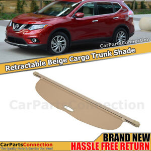 Beige Retractable Cargo Cover Rear Security Shade For 14 16 Nissan Rogue Sl Sv S
