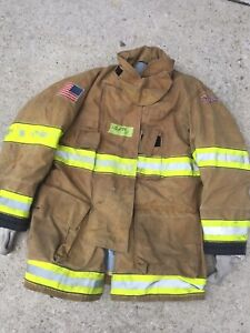 Firefighter Globe Turnout Bunker Coat 42x35 G xtreme No Cut Out 2011